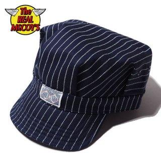 ザ リアルマッコイズ ウォバッシュ ワークキャップ 8HU INDIGO WABASH STRIPE WORK CAP MA19008 THE REAL McCOY'S