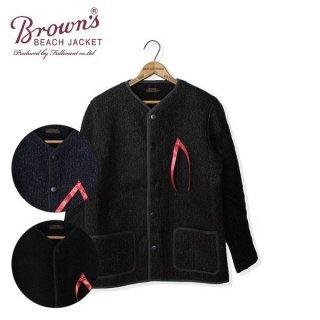 ブラウンズビーチ BBJ10-009 ノーカラージャケット ビーチクロス フルカウント BROWN'S BEACH