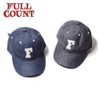 フルカウント デニム ベースボールキャップ 帽子 6PANEL DENIM F BASEBALL CAP 6843 FULLCOUNT