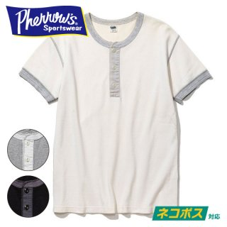 [ネコポス送料200円]フェローズ Tシャツ ヘンリー ネック プレーンT HENLEY NECK T-SHIRTS PHT PHERROW'S