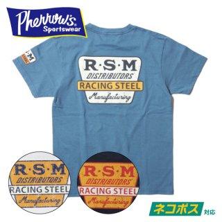 [ネコポス送料200円]フェローズ プリント Tシャツ 半袖 RACING STEEL 20S-PT3 PHERROWS