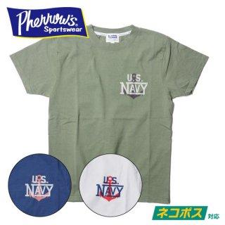フェローズ プリント Tシャツ 半袖 U.S.NAVY 20S-PT5 PHERROWS
