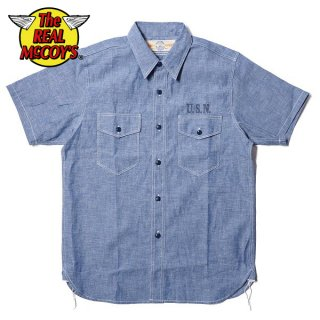 【PRE-ORDER】ザ リアルマッコイズ U.S.N. CHAMBRAY SHIRT S/S MS18014 THE REAL McCOY'S