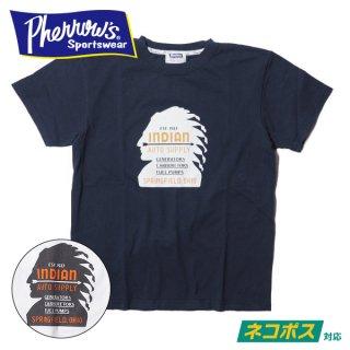 フェローズ プリント Tシャツ 半袖 インディアン INDIAN 20S-PT7 PHERROWS