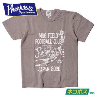 [ネコポス送料200円]フェローズ プリント Tシャツ 半袖 MSG FIELD FOOTBAUL CLUB 20S-PTJ4 PHERROWS