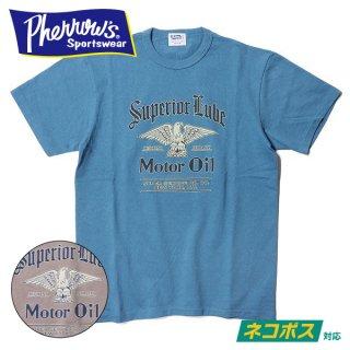 [ネコポス送料200円]フェローズ プリント Tシャツ 半袖 MOTOR OIL 20S-PTJ3 PHERROWS