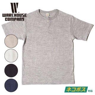 【6-7月入荷予定】ウエアハウス 1ボタンヘンリーネックTシャツ HENLEY SHIRT S/S  無地 半袖 4082 WAREHOUSE