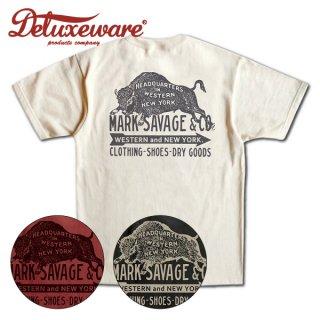 デラックスウエア プリント Tシャツ 半袖 MARK SAVAGE&CO SDL-2003 DELUXEWARE