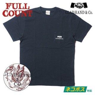 フルカウント×グラッドハンド コラボ Tシャツ DRAGON T SHIRT GHT-003 GRAD HAND FULLCOUNT