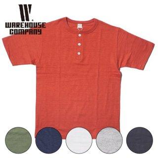 ウエアハウス 無地 ヘンリーネック Tシャツ 4601 WAREHOUSE