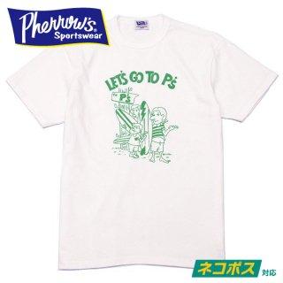[ネコポス送料200円]フェローズ プリント Tシャツ 半袖 LET'S GO TO P's 20S-PTJ8 PHERROWS