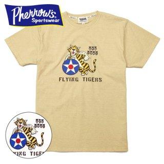 フェローズ プリント Tシャツ 半袖 FLYING TIGER 20S-PT12 PHERROWS