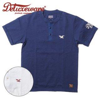 デラックスウエア プリント ヘンリーネックロゴTシャツ 半袖 EAGLE BRAND BRG-20C DELUXEWARE