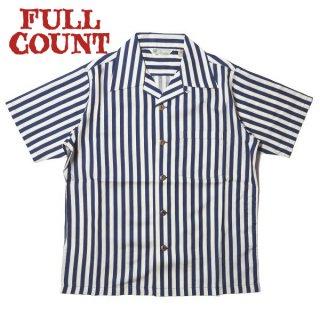 フルカウント インディゴストライプ レーヨンシャツ 半袖 INDIGO STRIPE RAYON SHIRT 4032 FULLCOUNT