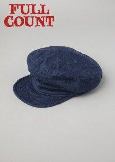 【10-11月入荷予定】フルカウント デニム ワーカーズキャップ DENIM WORKERS CAP 6121-1 FULLCOUNT