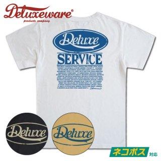 [ネコポス送料200円]デラックスウエア プリント Tシャツ 半袖 CIRCLE DELUXE BRG-20F DELUXEWARE