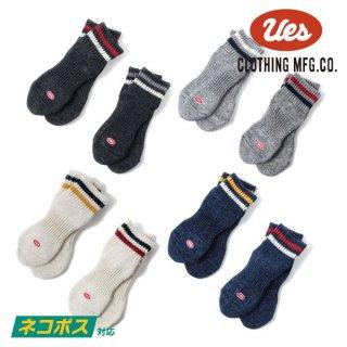 [ネコポス送料200円]ウエス ライン入りスニーカーソックス 靴下 SSX-1 UES