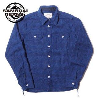 サムライジーンズ 藍刺し子ワークシャツ 長袖 SSS20-01 SAMURAI JEANS