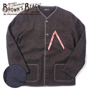 ブラウンズビーチ ノーカラージャケット ビーチクロス BROWN'S BEACH NO COLLAR JACKET BBJ10-009 BROWN'S BEACH