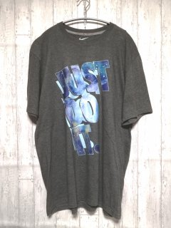 古着 NIKE Tシャツ JUST DO IT ビッグT /XL グレー