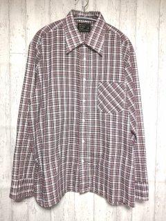 JCpenny チェック柄長袖シャツ /L 赤 グレー