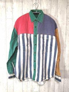 URBAN ACTIVE クレイジーパターンシャツ カラフル 長袖/M マルチカラー