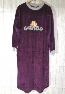 GARFIELD ベロアロングワンピース M パープル 紫