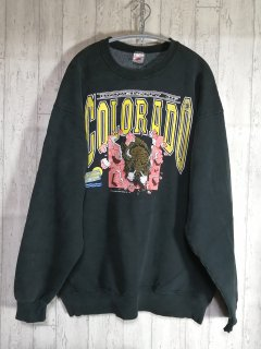FRUIT OF THE LOOM スウェットトレーナー XL 黒 90s  USA製 COLORADO