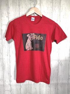Healthknit ヘルスニット 70s Tシャツ S USA製 赤 犬 red