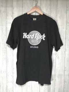 Hard Rock CAFE ロゴペイント アドバタイジングTシャツ L 黒 BEIJING 北京店 レア 刺繍タグ ハードロックカフェ