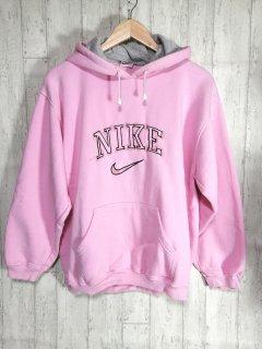NIKE ナイキ スウェットパーカー ロゴ L ピンク フード