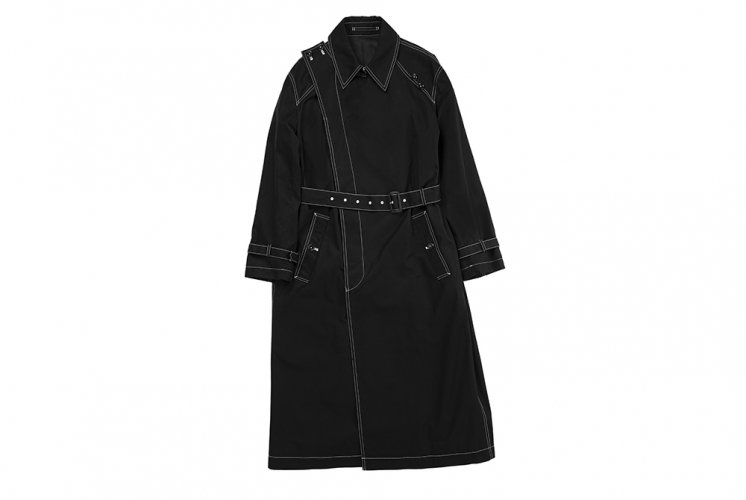 CROSSOVER TRENCH COAT BLACK