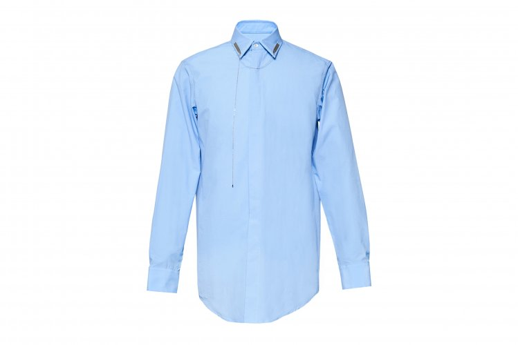COLLAR STAY SHIRTS BLUE