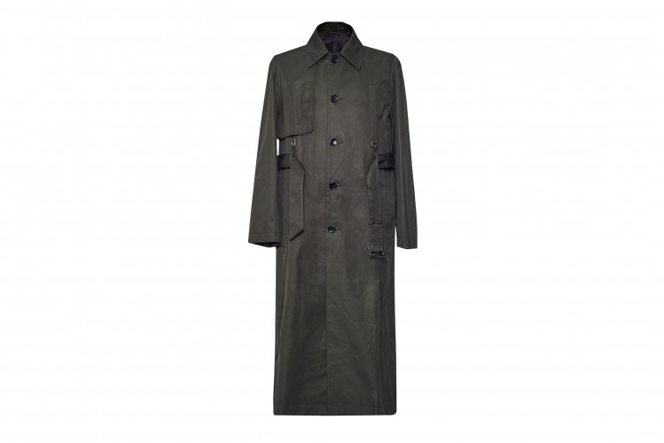 SINGLE TRENCH COAT MOSSGREEN
