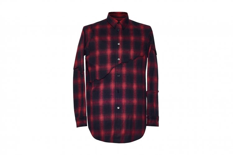 LAYERED DESTROY SHIRTS RED