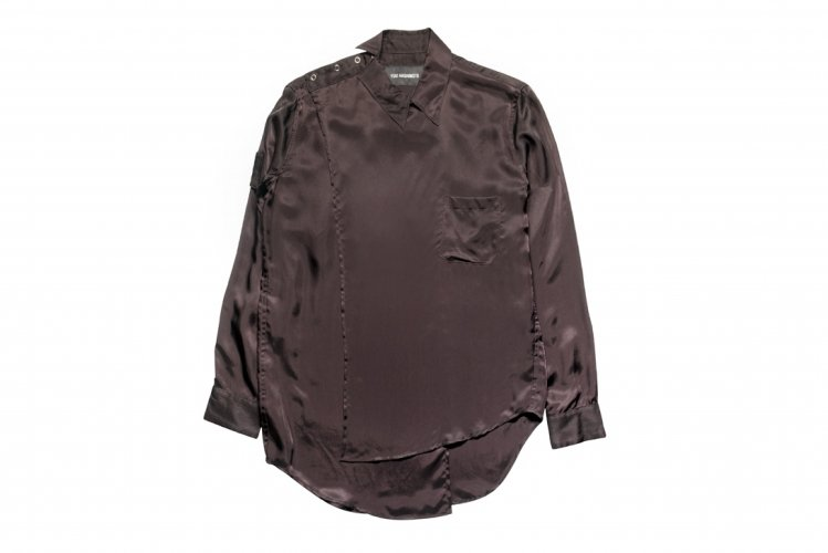 CROSSOVER LONG SLEEVE SHIRTS BROWN