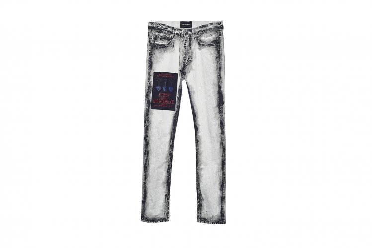 CHARCOAL PAINT SLIM JEANS WHITE-B