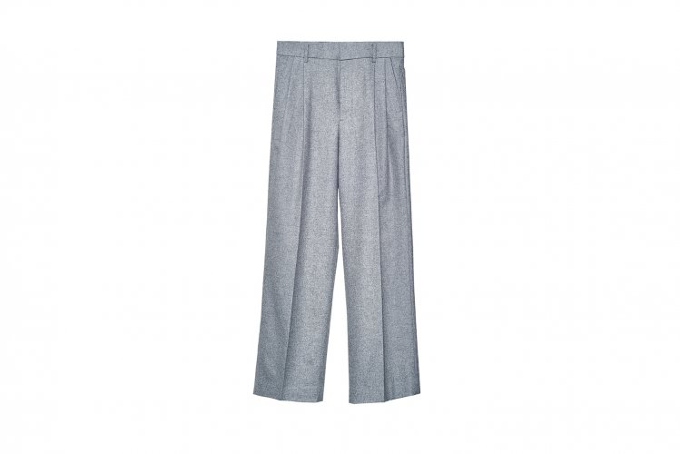WIDE TROUSERS GRAY