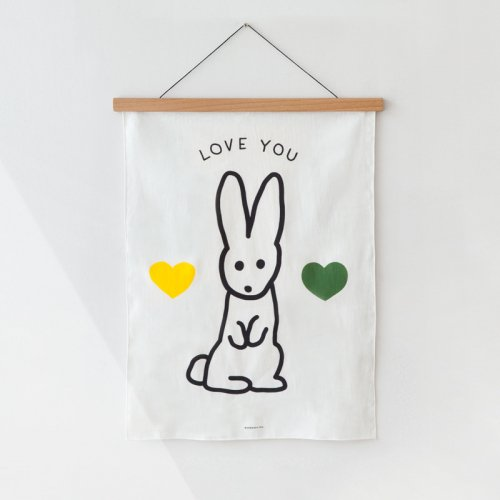 FABRIC POSTER(BUNNY) | WARMGREY TAIL
