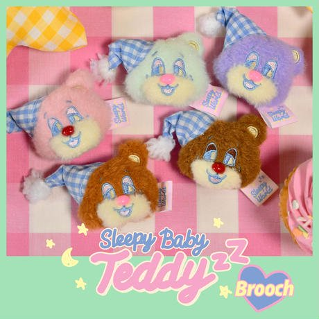 <img class='new_mark_img1' src='https://img.shop-pro.jp/img/new/icons9.gif' style='border:none;display:inline;margin:0px;padding:0px;width:auto;' />[Sleepy World]Baby TeddyzZ ブローチ|NEONMOON(ネオンムーン)