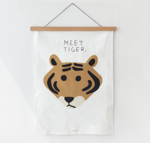 FABRIC POSTER(MEET TIGER) | WARMGREY TAIL