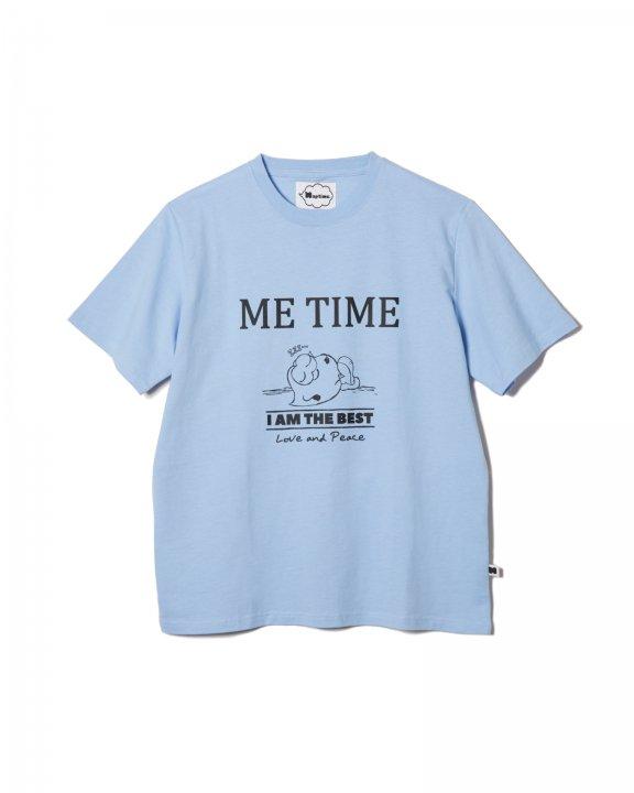PRINT T-SHIRTS-SAX BLUE