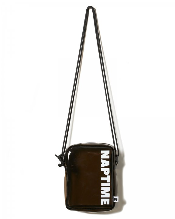 CLEAR SHOULDER BAG-BLACK