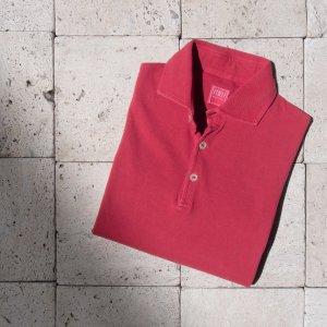 cotton  polo shirt RED
