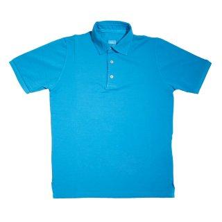 cotton polo shirt skyblue