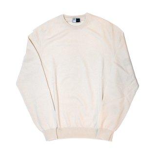 cashmere crew neck knit WHITE