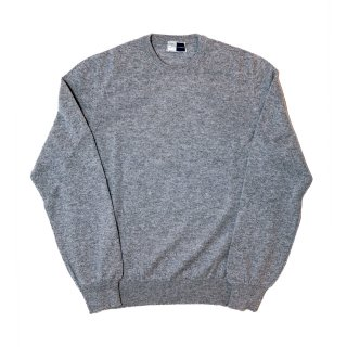 cashmere crew neck knit GRAY