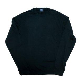 giza cotton crew neck knit BLACK