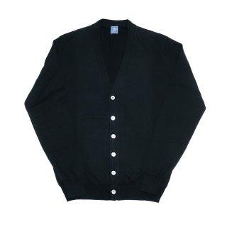 giza cotton cardigan BLACK