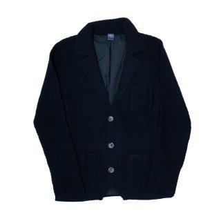 lana wool knit jacket NAVY